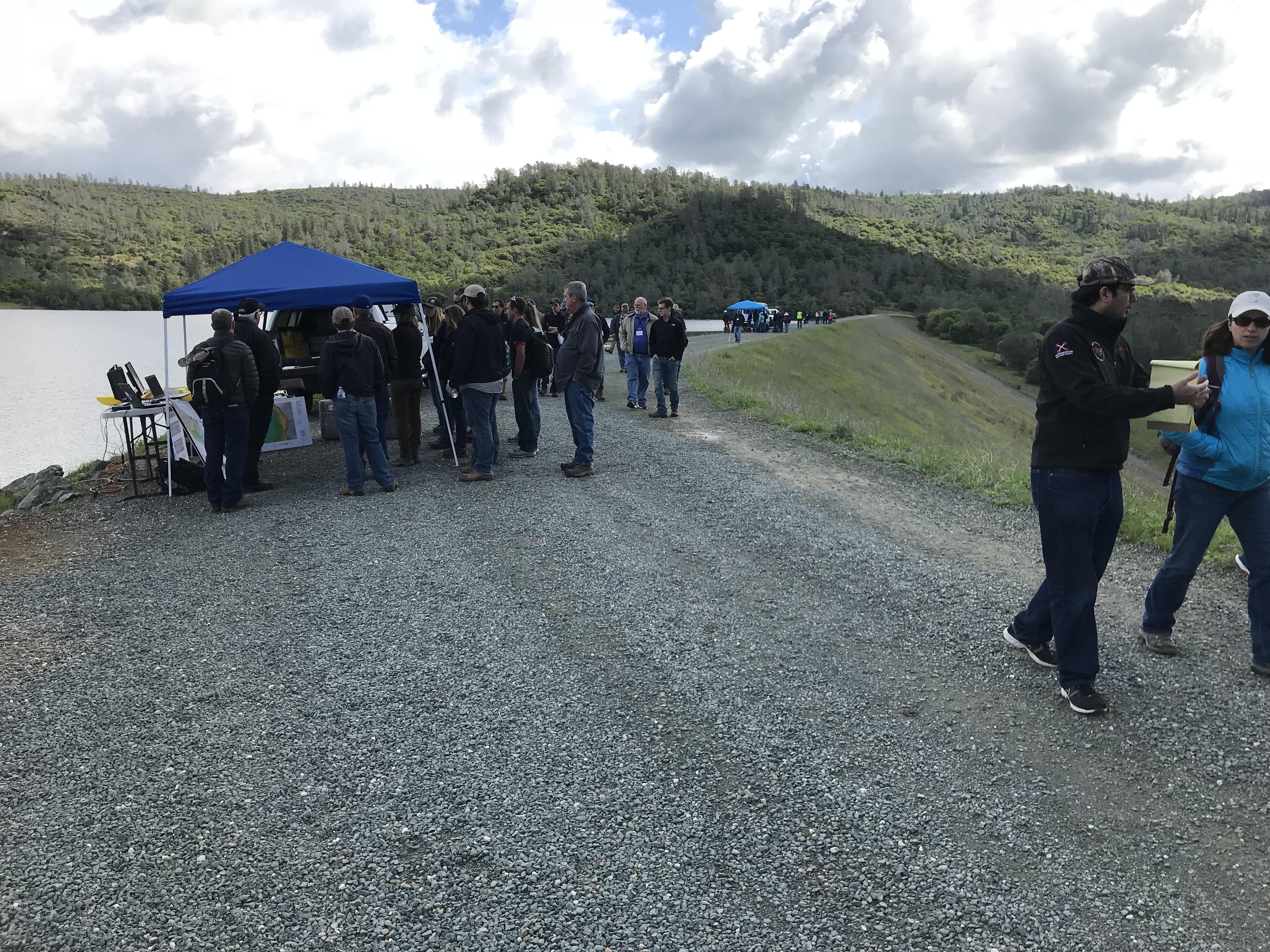 Dam Inspection Technology Demonstration at Virginia Lake Dam