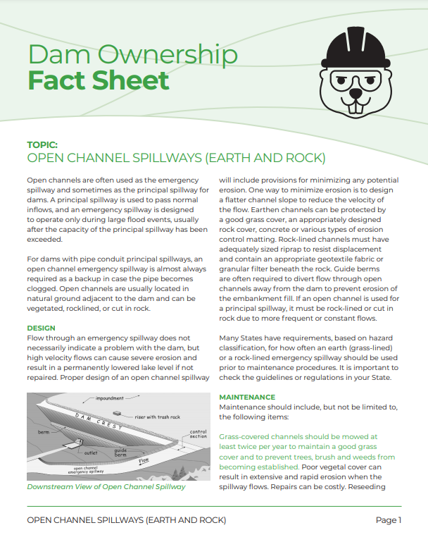Open Channel Spillway -Earth and Rock - Fact Sheet 2018_Page_1.png