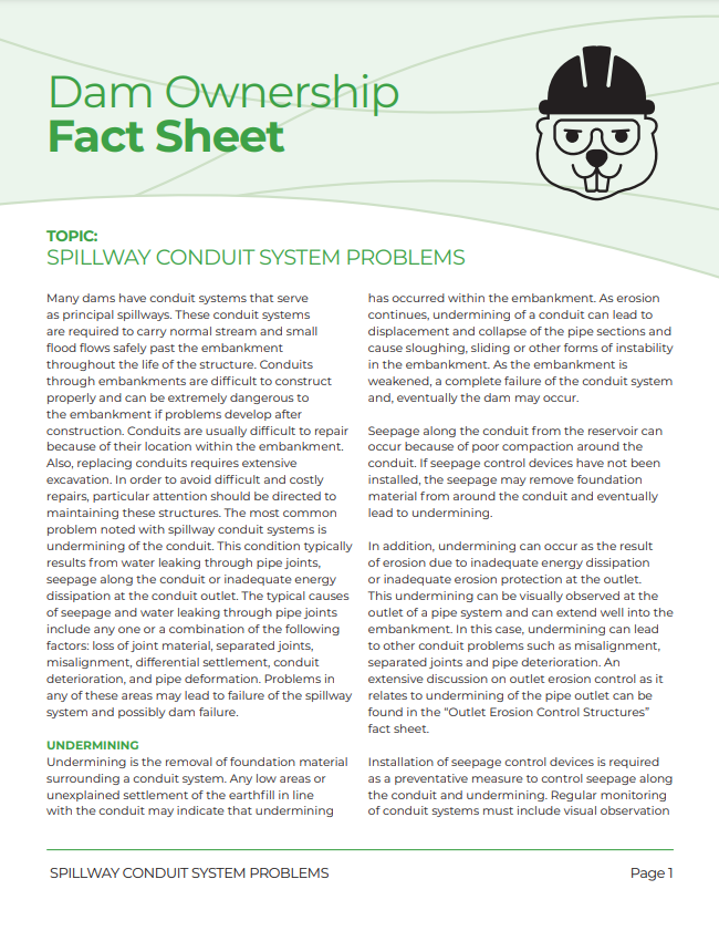 Spillway Conduit System Problems Fact Sheet 2018_Page_1.png